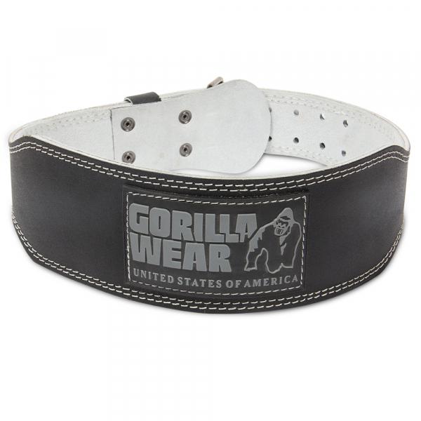Gorilla Wear 4 Inch Padded Leather Lifting Belt